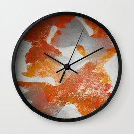 Pasta in repeat pattern Wall Clock