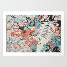 Paint Out Loud-Mic Art Print