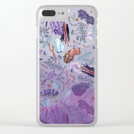 violet mountain dreams Clear iPhone Case