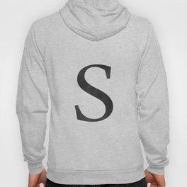 Letter S Initial Monogram Black and White Hoody
