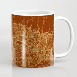Caracas, Venezuela street map Coffee Mug