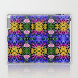 Floral Spectacular: Blue, Plum, Gold - square repeating pattern, Olbrich Botanical Gardens, Madison Laptop & iPad Skin