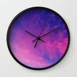 Sunrise series- Cloud of Pink Wall Clock
