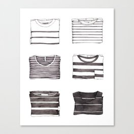 Stripes Collection Canvas Print