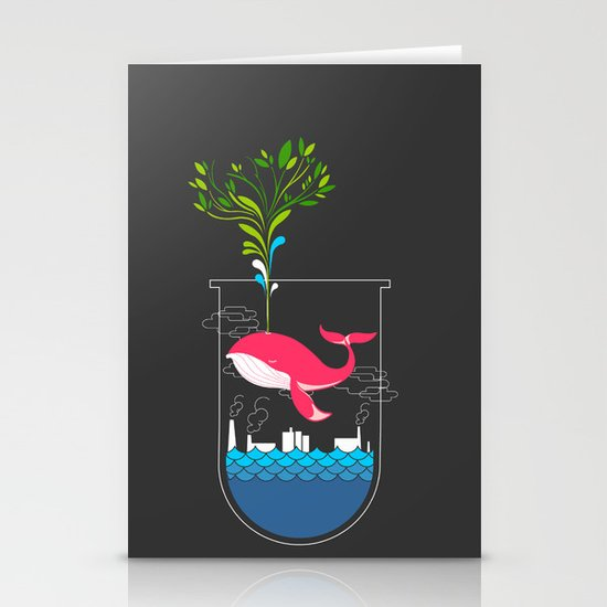 Nature Whale Stationery Cards