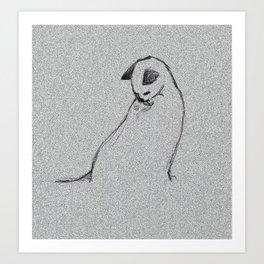 Cat-Gray cat2 Art Print