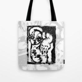 Lonesome Saint - b&w Tote Bag