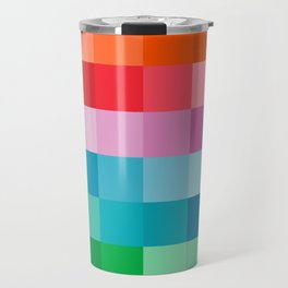 pixilated colors Travel Mug