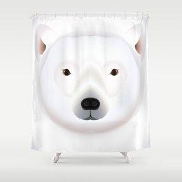 2D Polar bear 1 Shower Curtain