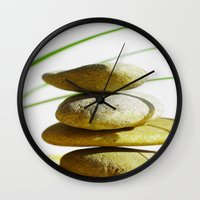 relax Wall Clocks featuring Relax  by Tanja Riedel