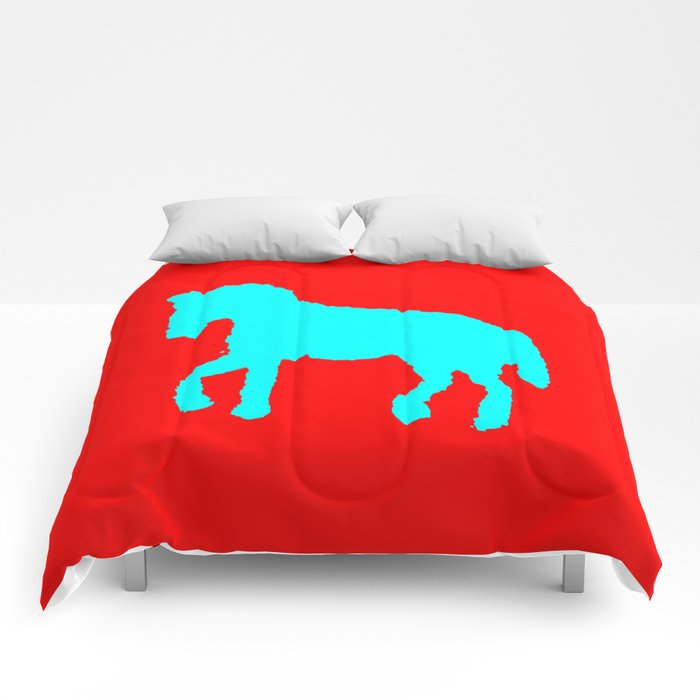 Blue horse  ign Comforters