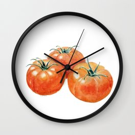 Three Tomatoes Wall Clock