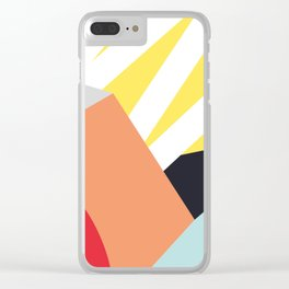 Handsome colors Clear iPhone Case