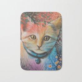 Milo ... Abstract Cat Kitten Art Bath Mat