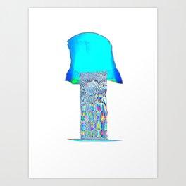 Indigo blast Art Print