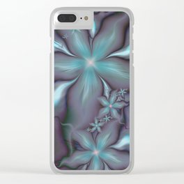 Aquafleur Fractal Clear iPhone Case