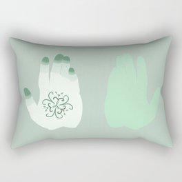 Henna Hand - Green Thumb Rectangular Pillow