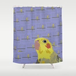 The Cocatiel Gallery Giftshop Shower Curtain