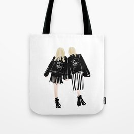 Fashionable Best Friend Holding Hand Tote Bag