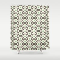 honeycomb Shower Curtains featuring Honeycomb by Tayler Willcox