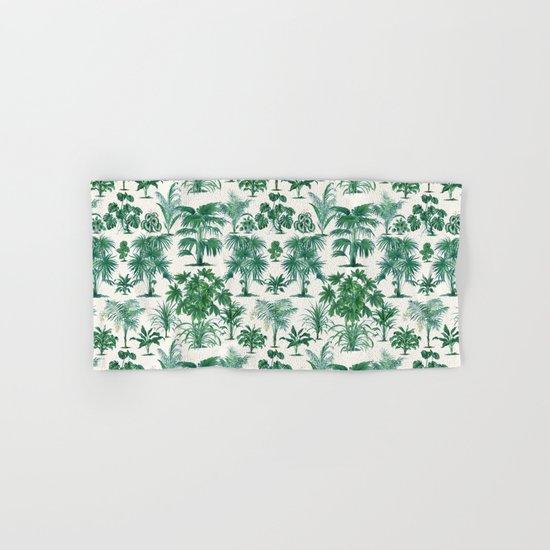 Exotic Tropical Palm Print Hand & Bath Towel