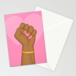 Black Lives Matter Power Fist Stationery Cards