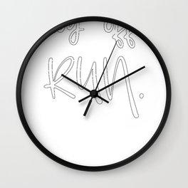 Runner Gift Log Off Run Running Design Wall Clock