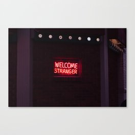Welcome Stranger - Sheridan, WY Canvas Print