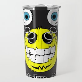 FREAKIN' Big Smile Emoticon! Travel Mug