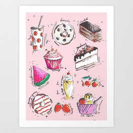 Food Love Art Print