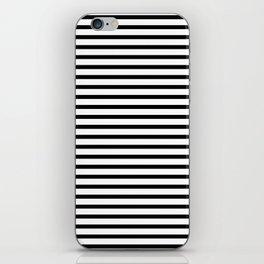 White Black Stripe Minimalist iPhone Skin