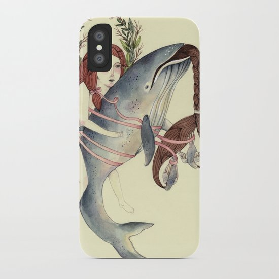 Ribbons Whale iPhone Case