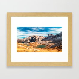 Autumn trekking in the alpine Pusteria valley Framed Art Print