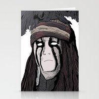 johnny depp Stationery Cards featuring Lone Ranger Johnny Depp by  Steve Wade ( Swade)