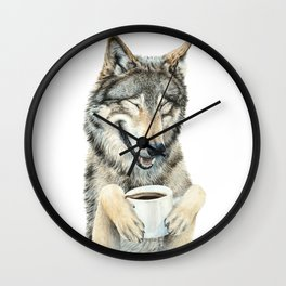 Coffee in the Moonlight Wall Clock