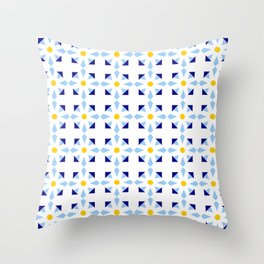 rosace and star 1 Throw Pillow
