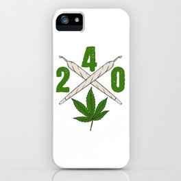 240 Green Cannabis Shirt For High People Weed T-shirt Design Marijuana Medication Legalized iPhone Case