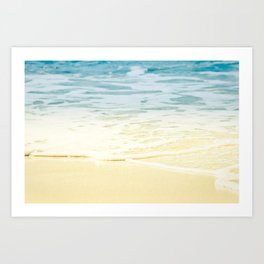 Kapalua Beach dream colours sparkling golden sand seafoam Maui Hawaii Art Print