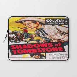 Vintage poster - Shadows of Tombstone Laptop Sleeve
