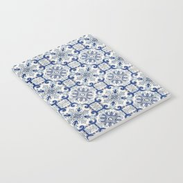 Portuguese tiles pattern blue Notebook