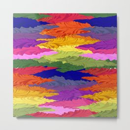 Rainbow Ripples Metal Print