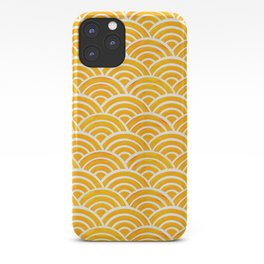Japanese Seigaiha Wave – Marigold Palette iPhone Case