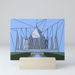 Triangularism: Taj Mahal Mini Art Print