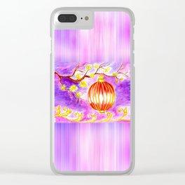 Oriental lantern Purple sky Clear iPhone Case