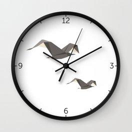 Origami Seagull Wall Clock