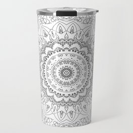 MOONCHILD MANDALA BLACK AND WHITE Travel Mug