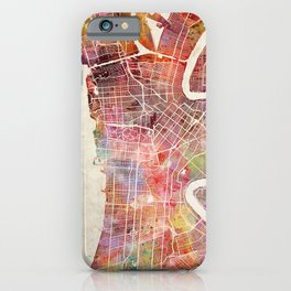 New Orleans map iPhone Case