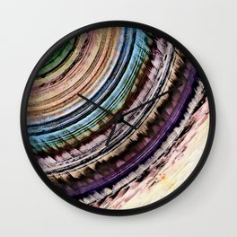 Abstract Textural Rings Wall Clock