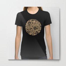 Gold Dragon Ball Shen long Art iPhone 4 4s 5 5c, ipod, ipad, tshirt, mugs and pillow case Metal Print
