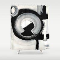 clockwork Shower Curtains featuring CLOCKWORK  by Linnea Heide
